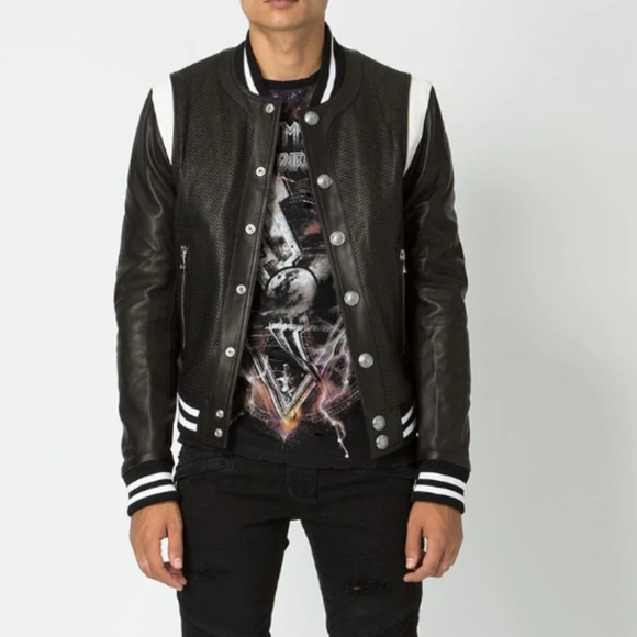 4ea31a05 Balmain Jackets & Coats | Men Bomber Leather Jacket | Poshmark